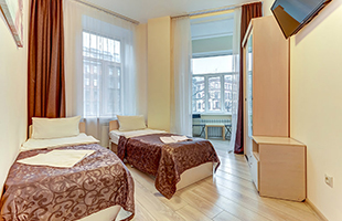 SuperHostel on Pushkinskaya 14, ECONOMY Twin room - photo #1